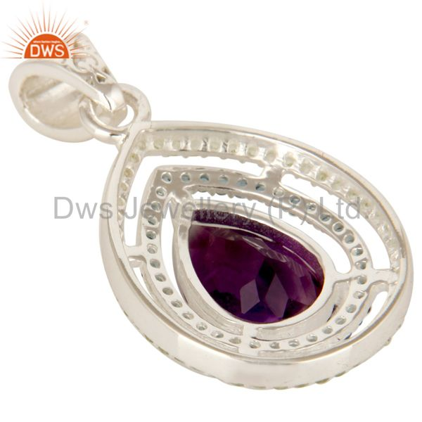 Suppliers Amethyst, Blue Topaz And Peridot Prong Set Gemstone Sterling Silver Drop Pendant