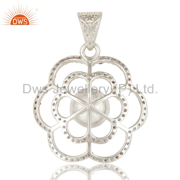 Suppliers 925 Sterling Silver Iolite And White Pearl Designer Pendant