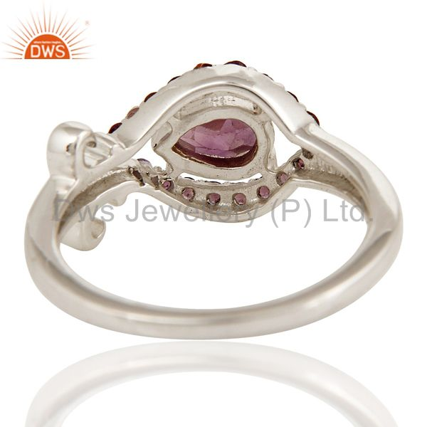 Suppliers 925 Sterling Silver Natural Amethyst Gemstone Ring