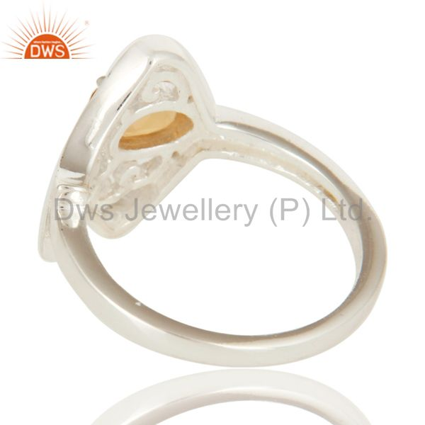 Suppliers 925 Sterling Silver Natural Citrine Gemstone Designer Ring