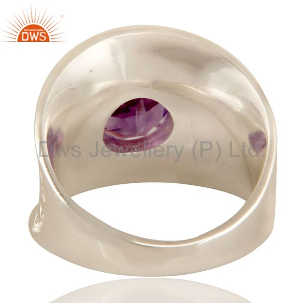 Suppliers 925 Sterling Silver Amethyst Gemstone Solitaire Dome Ring