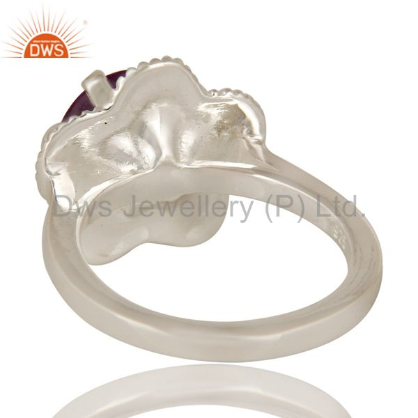Suppliers 925 Sterling Silver Prong Set Amethyst Gemstone Cocktail Ring
