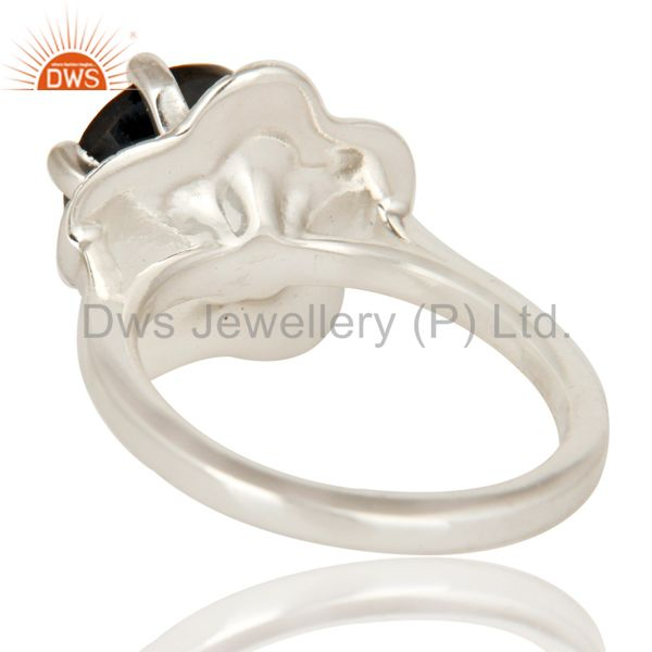 Suppliers Designer 925 Sterling Silver Black Onyx Gemstone Prong Setting Cocktail Ring