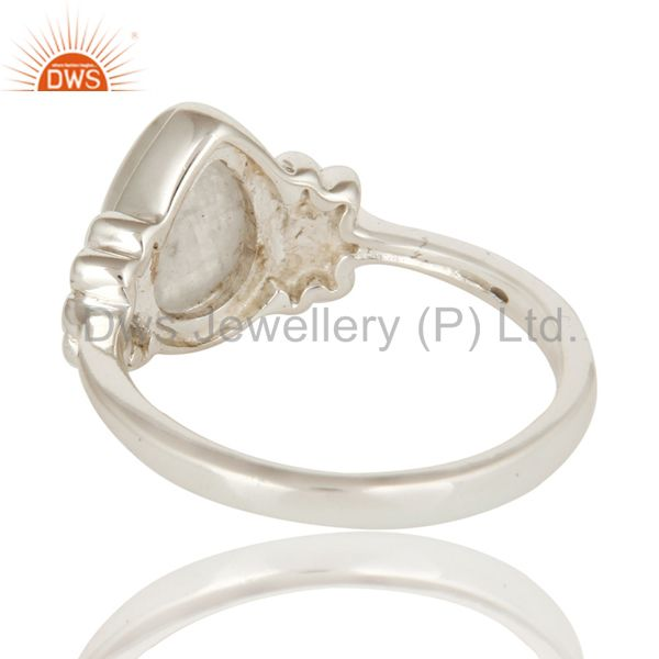Suppliers 925 Sterling Silver Natural Rainbow Moonstone Fine Gemstone Ring