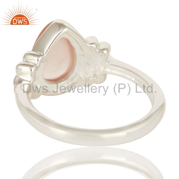 Suppliers 925 Sterling Silver Natural Rose Quartz Fine Gemstone Ring