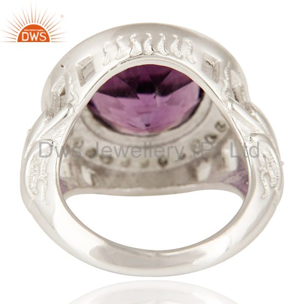 Suppliers Natural Amethyst And Peridot Sterling SIlver Cocktail Ring