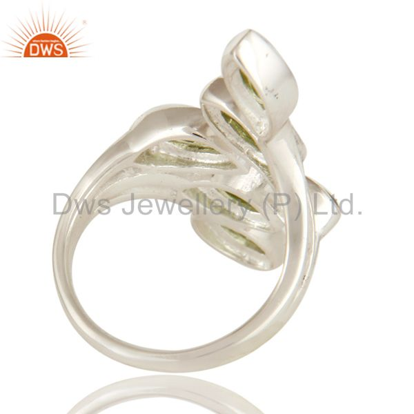 Suppliers Natural Peridot Gemstone Statement Ring Made In Sterling Silver