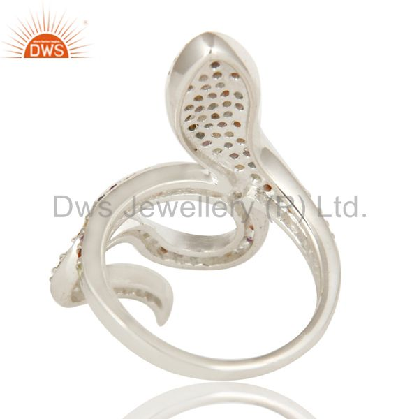 Suppliers 925 Sterling Silver Snake Ring Studded with Natural Multi Gemstone