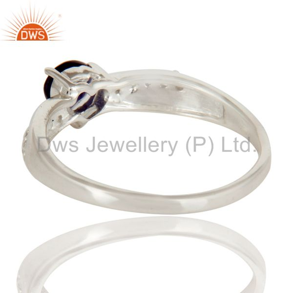 Suppliers 925 Sterling Silver Heart Cut Iolite And White Topaz Gemstone Halo Ring