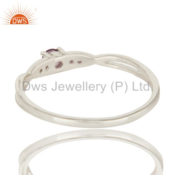 Suppliers Natural Amethyst Gemstone 925 Sterling Silver Genuine Stacking Ring
