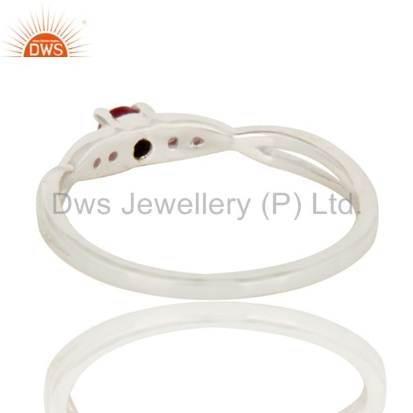 Suppliers 925 Sterling Silver Natural Ruby Gemstone Stacking Ring