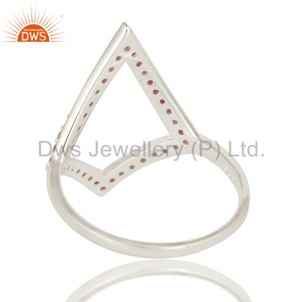 Suppliers 925 Sterling Silver Ruby Gemstone Cutout Ring