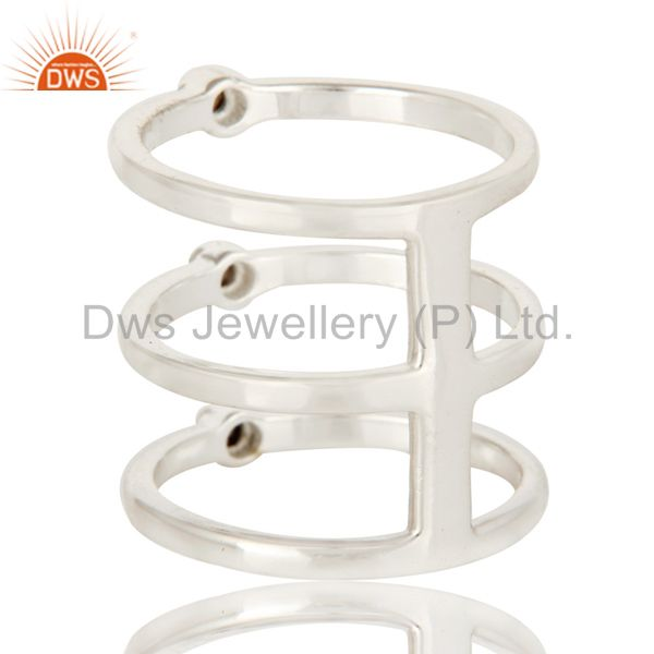 Suppliers 925 Sterling Silver Natural Smoky Quartz Gemstone Three Stackable Rings
