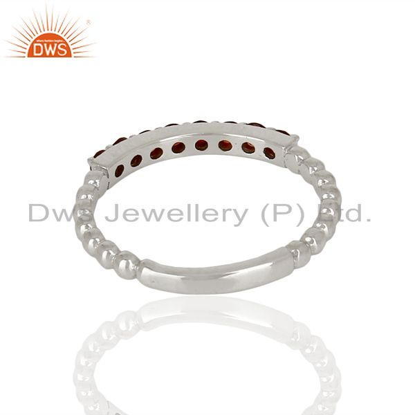 Suppliers Garnet Gemstone Cluster Stacking Eternity 925 Sterling Silver Band Ring