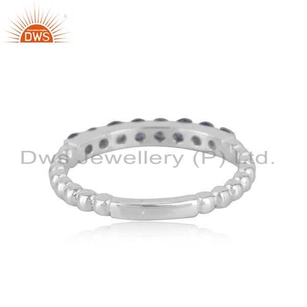 Suppliers Tanzanite Gemstone Designer 925 Fine Silver Stackable Ring Jewelry