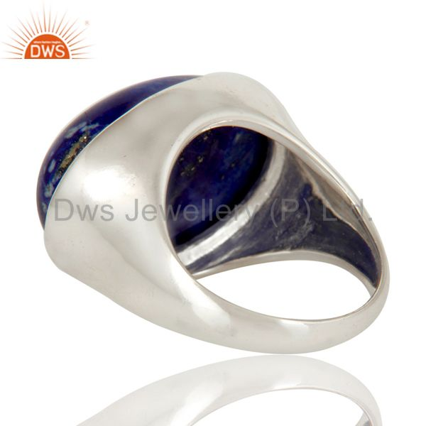 Suppliers 925 Sterling Silver Natural Lapis Lazuli Gemstone Dome Ring