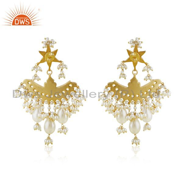 Suppliers Indian Handmade Kundan Meena 925 Silver Traditional Earrings Manufacturer