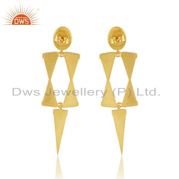 Suppliers Manufacturer 925 Silver Gold Plated Enamel Earring Jewelry