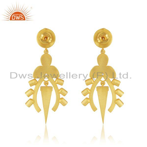 Suppliers Enamel Designer Gold Plated Silver Womens Earring Jewelry