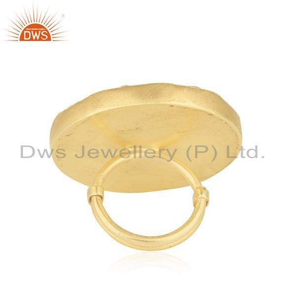 Suppliers Tradirional Gold Plated Handmade 925 Silver Lakh Ring Jewelry