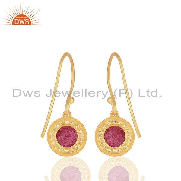 Suppliers Multi Gemstone Gold Plated 925 Sterling Silver Drop Earrings Jewelry