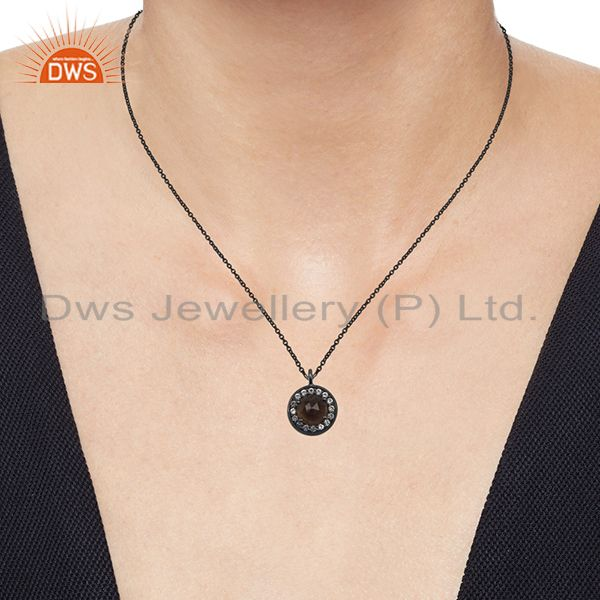 Suppliers Black Rhodium Plated 925 Silver Pendant Jewelry Manufacturers