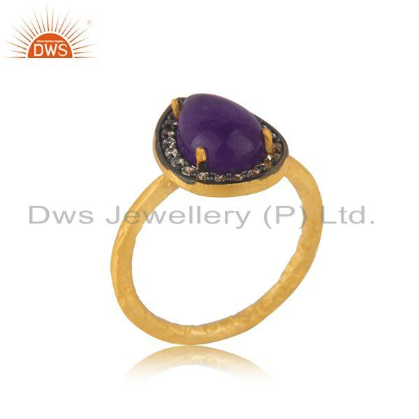 Suppliers 14k Gold Plated 925 Silver Multi Gemstone Ring Jewellery Manufacturer India