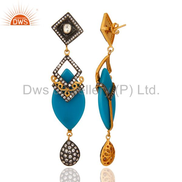 Suppliers Sterling Silver Crystal & White Zircon Designer Bakelite Women Fashion Earring