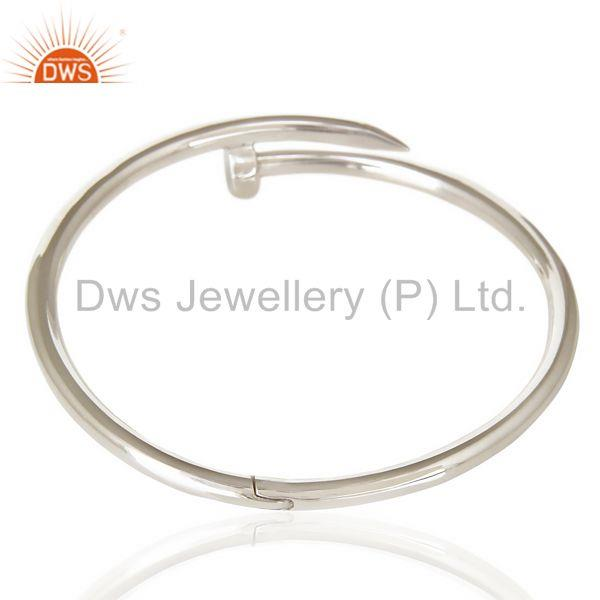 Screw style cuff solid sterling silver cuff band bangle Exporter