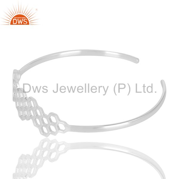 Wholesalers of Mind blowing solid silver handmade new fashion openable palm bangle