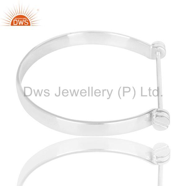 Wholesalers of Beautiful solid sterling silver handmade screw lock openable bangle