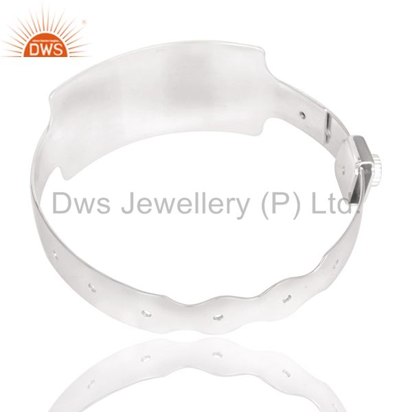 Wholesalers of Handmade art deco new design wide bangle made in solid 925 silver
