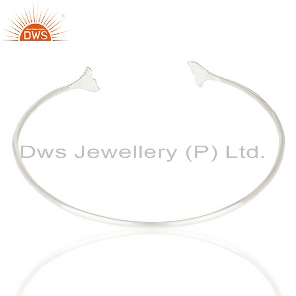 Suppliers Dolphin Tail Adjustable Openable 92.5 Sterling Silver Bangle