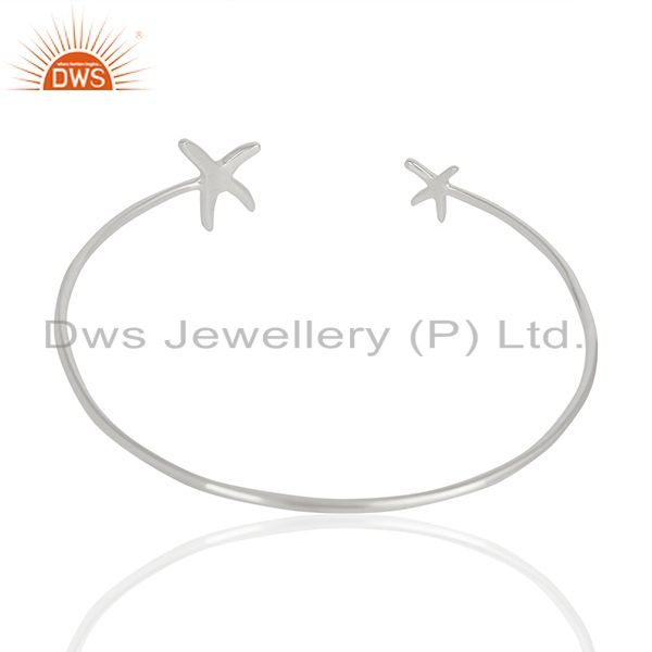 Suppliers Star Fish Bangle,Openable Adjustable Bangle Solid 92.5 Sterling Silver