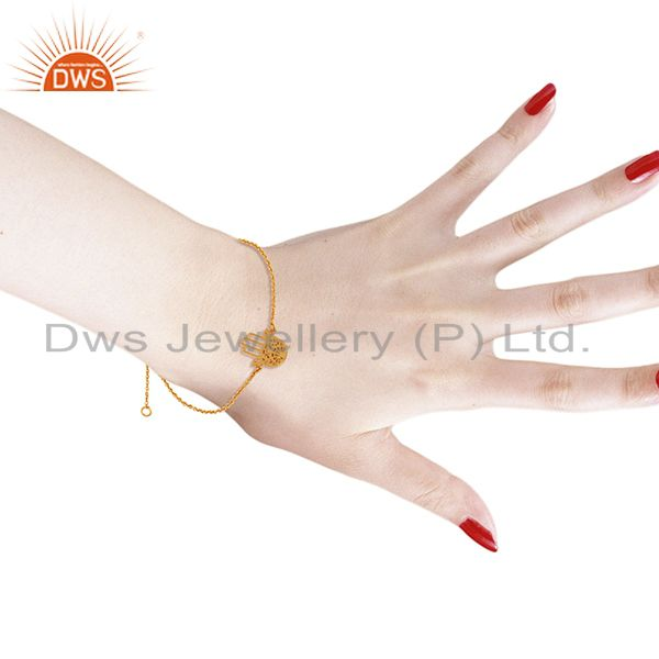 Suppliers Gold Plated Hamsa Charm Fashion Bracelet Jewelry Manufacturer