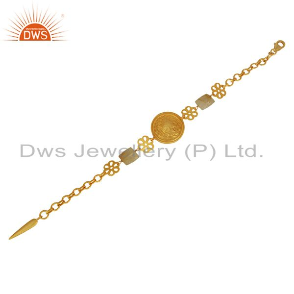 Suppliers Handcrafted Gold Plated Plain Silver Bracelet Jewelry Manufacturer