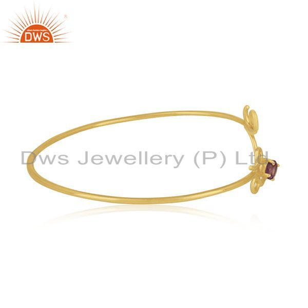 Suppliers Private Label Love Initial Gold Plated 925 Silver Cuff Bracelet Manufacturer