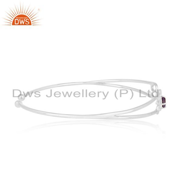 Suppliers Initial Love Design 925 Silver Cuff Bracelet Jewelry Manufacturer for Designers