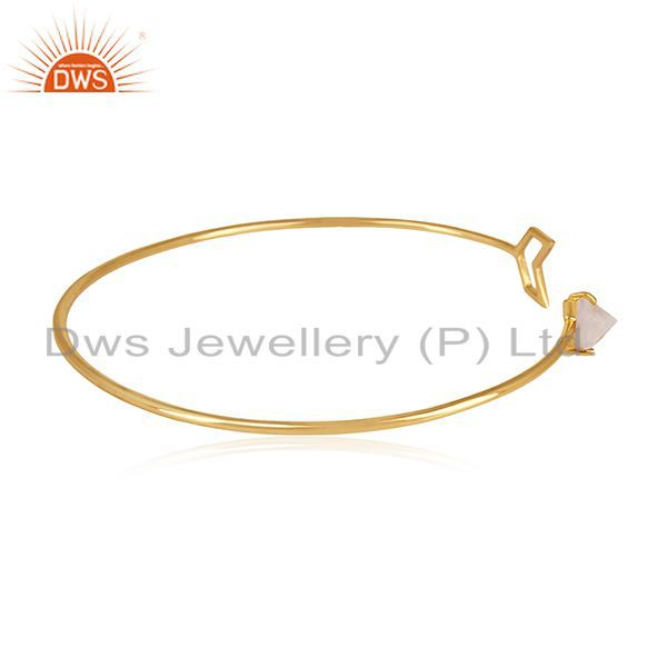 Suppliers Buy Gold Plated Sterling Silver Arrow Cuff Bracelet Manufacturer for Designers