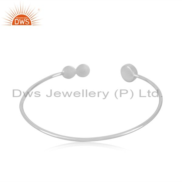Suppliers Fine Sterling Silver Rainbow Moonstone Cuff Bracelet Manufacturer in Jaipur
