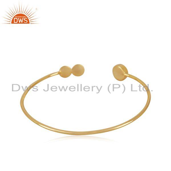 Suppliers Red Onyx Gemstone 925 Silver Gold Plated Cuff Bracelet Wholesale
