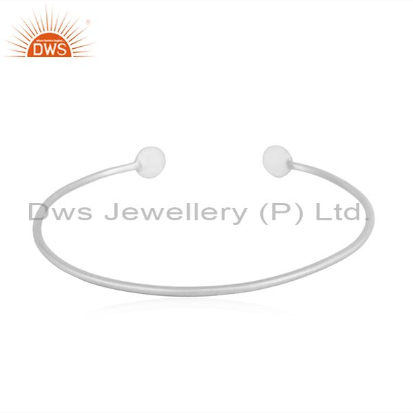 Wholesalers of New look 925 sterling fine plain silver designer cuff bangle jewelry