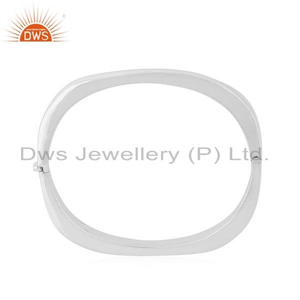 Suppliers New Arrival 925 Sterling Fine Silver Openable Bangle Jewelry For women