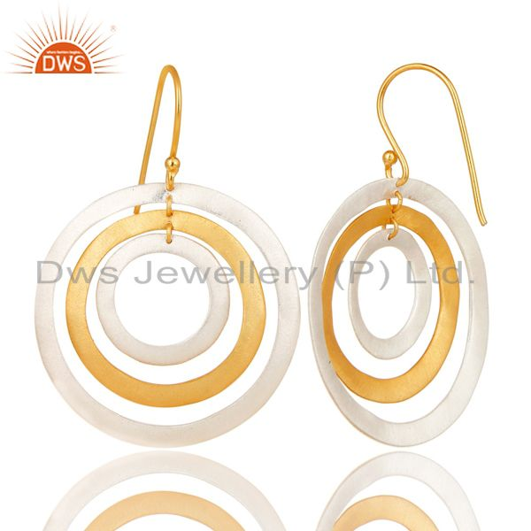 Suppliers Silver and Gold Plated Brass Fashion Earrings Jewelry Manufacturer