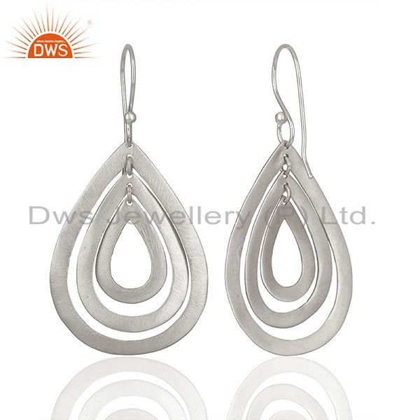 Suppliers Handmade Silver Plated Brass Dangle Fashion Earrings Suppliers