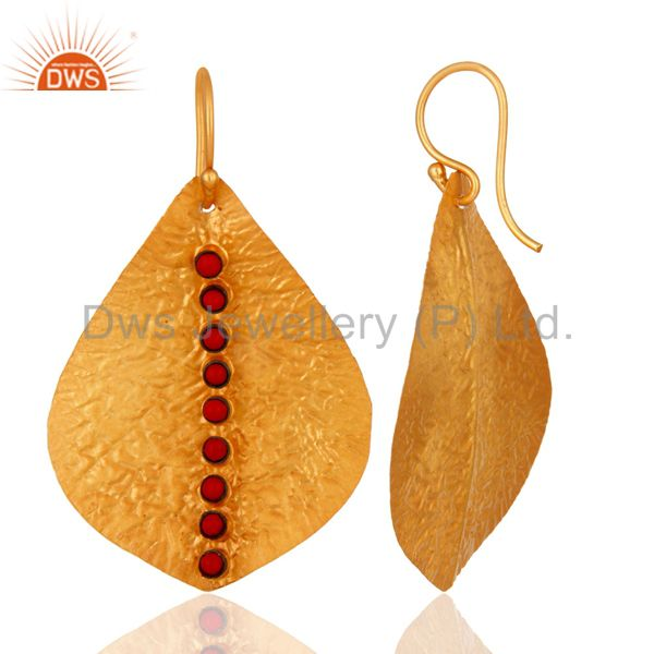 Suppliers texture coral Earring,92.5 handmade Texture Earring,Gold Plated Earring