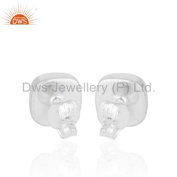 Suppliers Lapis Lazuli Gemstone 925 Silver Handmade Stud Earrings Manufacturer from India