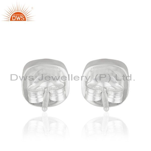 Suppliers Smoky QUartz Gemstone Handmade 925 Silver Stud Earring Jewelry Manufacturer