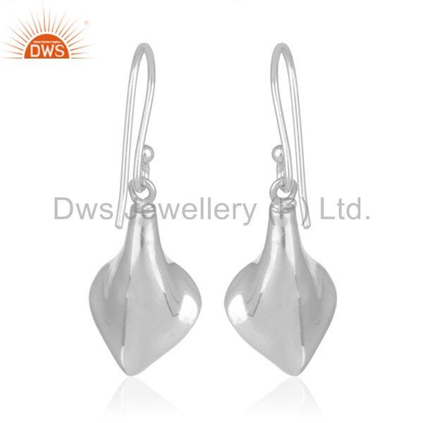 Suppliers Blue Chalcedony Gemstone Sterling 92.5 Silver Designer Earrings Wholesale