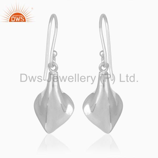 Suppliers Floral Design Sterling Silver Crystal Customized Earring Manufacturer from India